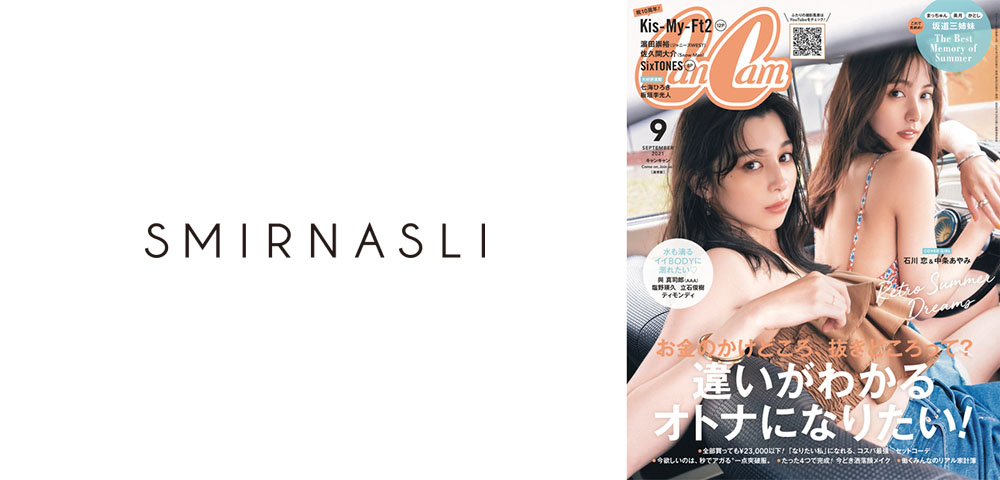 【CanCam】9月号掲載商品「スクエアミディアム2WAYトートバッグ」-SMIR NASLI